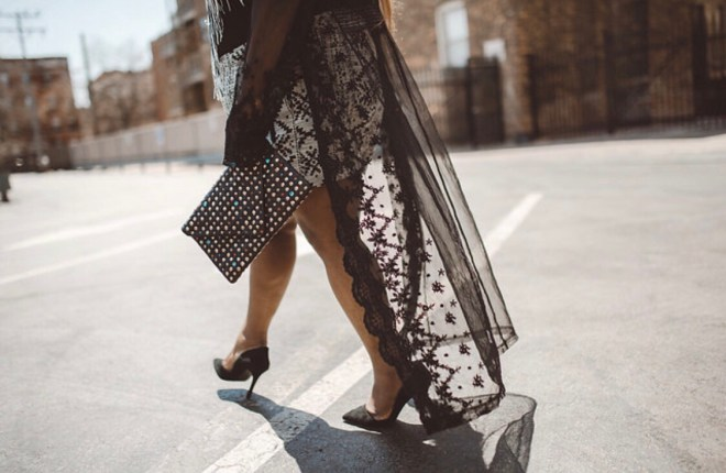 fringe, black and white body suit, shorts, plus size blogger, chicago