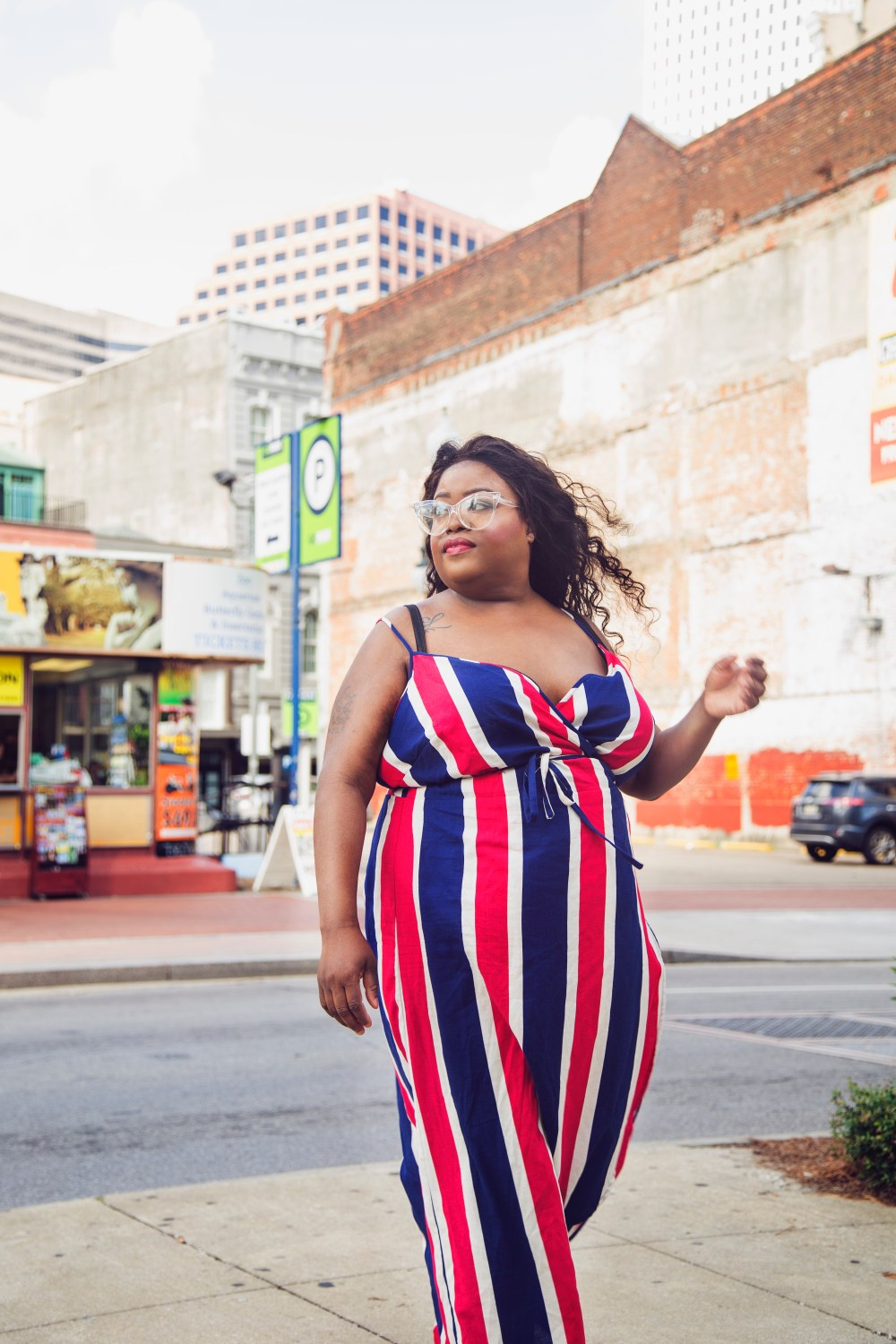 plus size stripes, red, white and blue, asos plus size dresses, plus size blogger