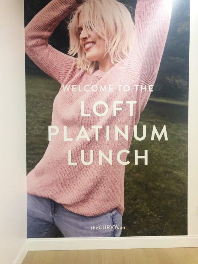 theCurvycon, Loft Platinum Lunch, loft plus size, loft clothing in plus