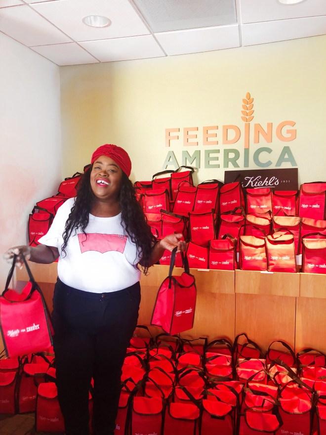 Chicago Food Depository, Kiehl's, Kiehls, feed America, Feeding America, friendsgivings, Food depository, #kiehlsfeedsAmerica, #no1shouldGohungry, #Endhunger