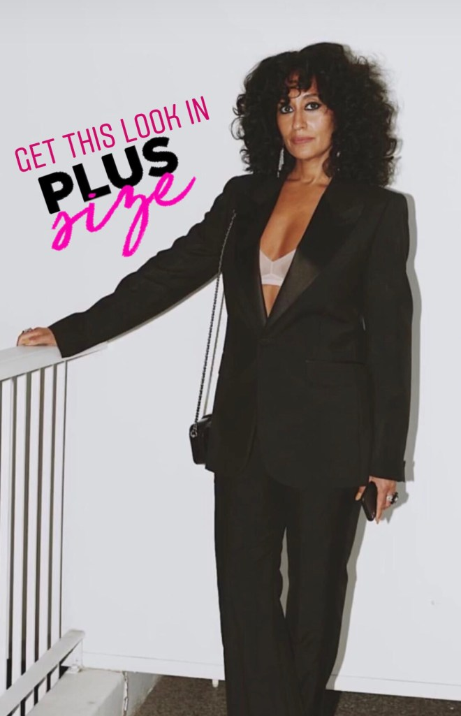 How To Make A Plus Size Black Pant Suit Sexy