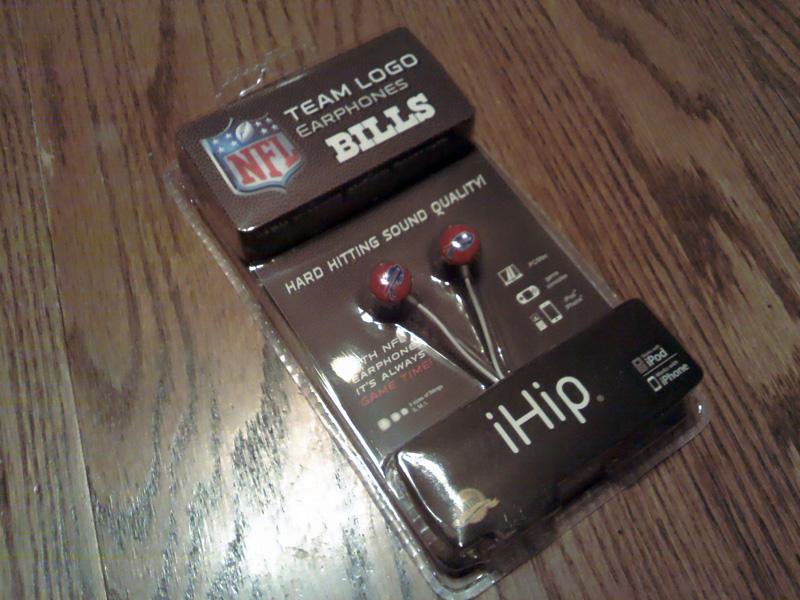 iHip NFL Buffalo Bills headphones