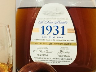 1931 6th Edition St Lucia Distillers rum Review by the fat rum pirate