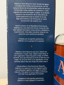 Atlantico Gran Reserva Rum Review by the fat rum pirate
