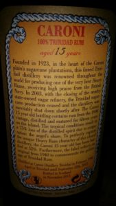 Velier Caroni Aged 15 years rum review by the fat rum pirate