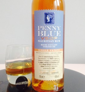 Penny Blue VSOP rum review by the fat rum pirate