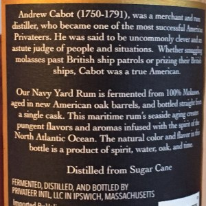 Privateer Navy Yard Barrel Proof Rum review by the fat rum pirate