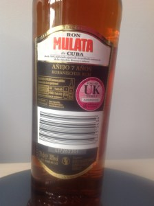 Ron Mulata Cuba 7 Year Old Rum Review by the fat rum pirate