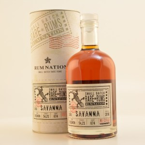Rum Nation Rare Rums Savanna 10 Year Old Review by the fat rum pirate