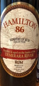 Hamilton 86 Ministry of Rum Collection rum review by the fat rum pirate