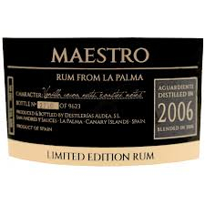 Ron Aldea Maestro 2006 Rum Review by the fat rum pirate