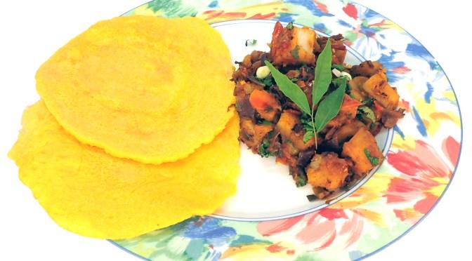 Nepali Moong Roti and Potato Curry