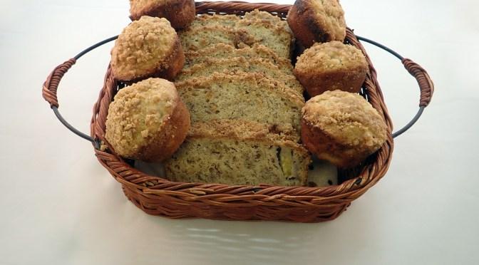 Vegan banana bread and muffins