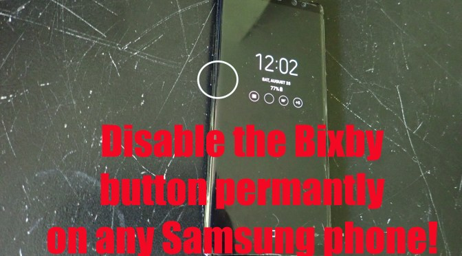 Disable Bixby Button