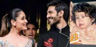 Taimur Unhappy with Kartik Aaryan Coming Close to Mommy Kareena Kapoor