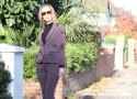 Marie Louise Pumfrey in Byas Cut trouser suit