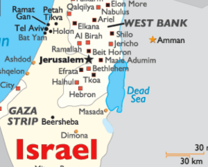 Israel West Bank map detail