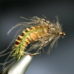 fly tying caddis pupa by Barry Ord Clark