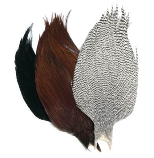 Hackle, fly tying materials
