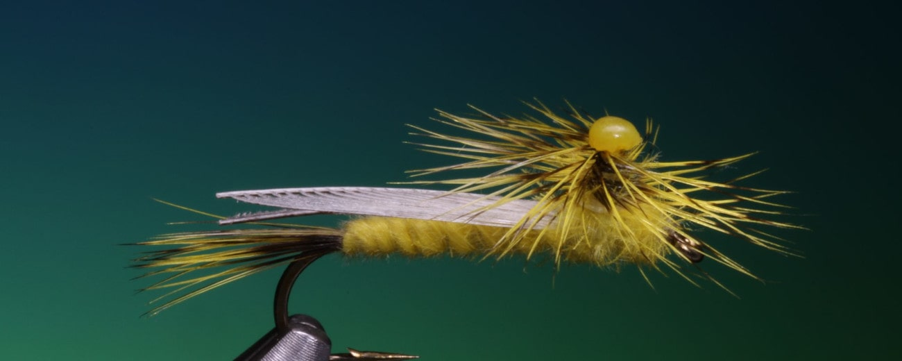 Yellow Sally fly tied by Barry Ord Clarke