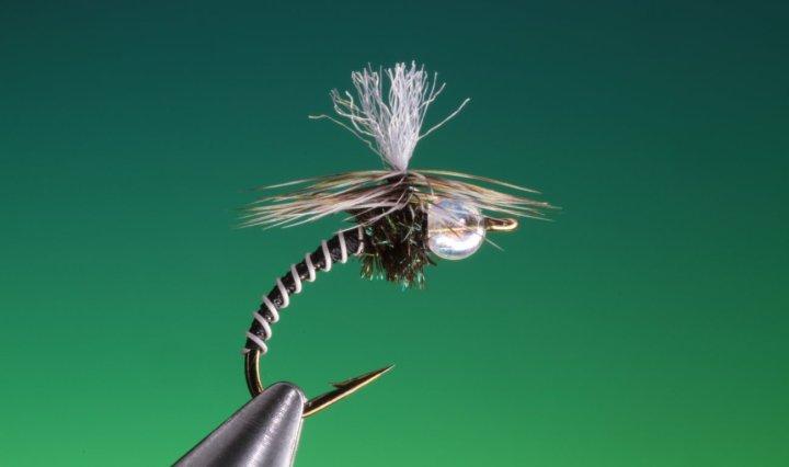 Parachute zebra midge tied by Barry Ord Clarke