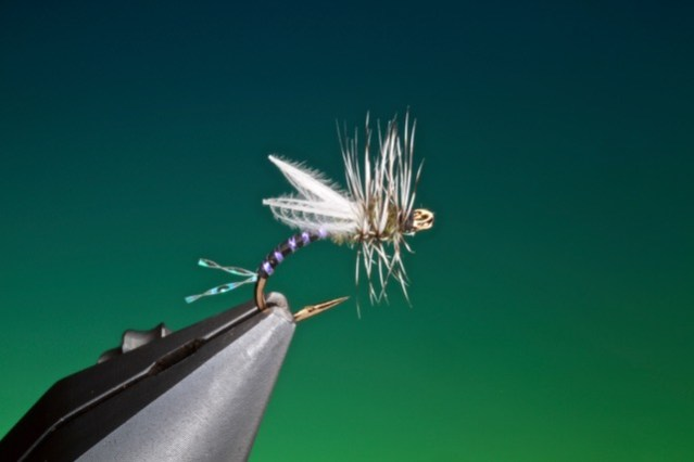 Hatching cripple midge tied by Barry Ord Clarke