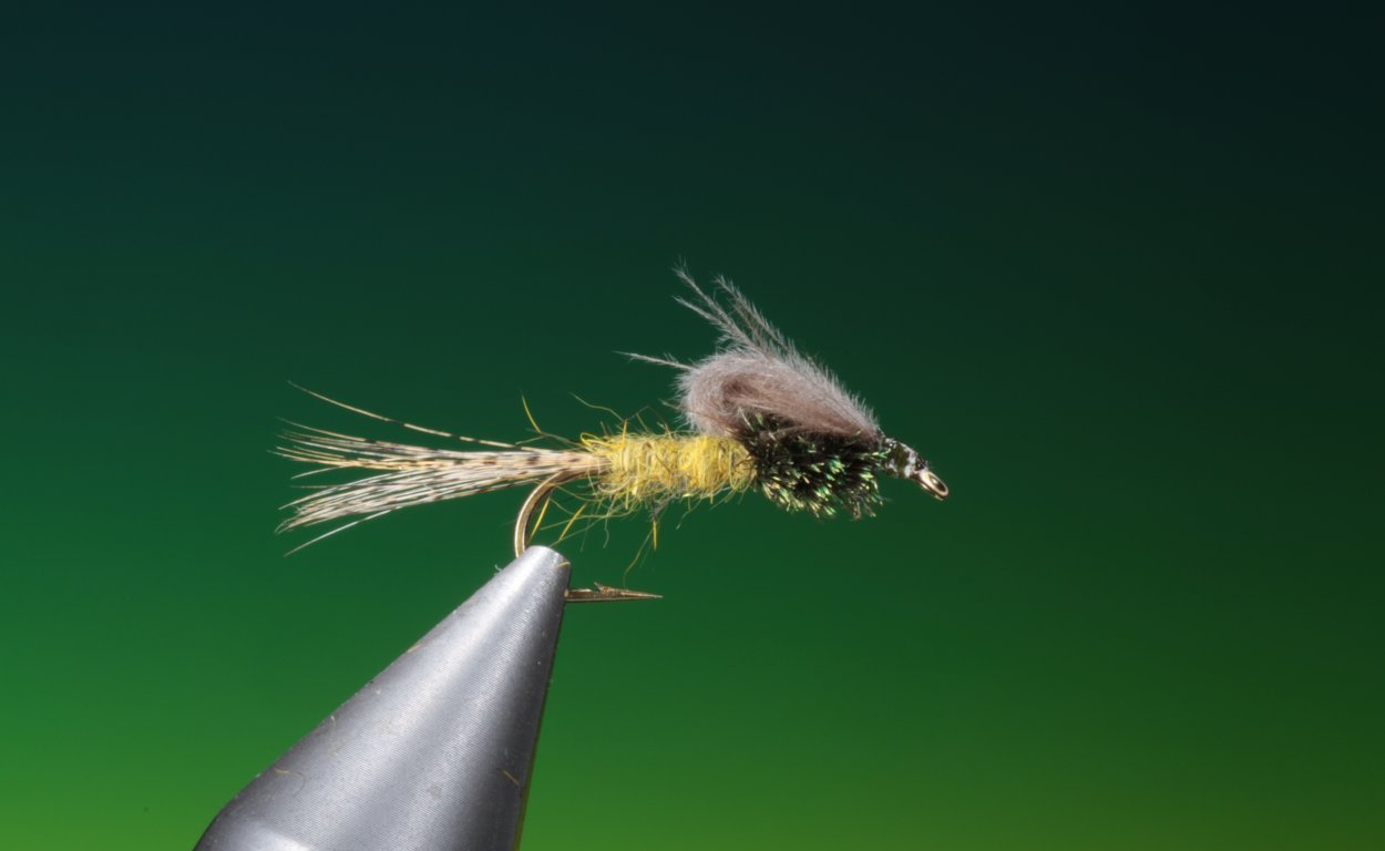 fly tying mayfly loop wing emerger
