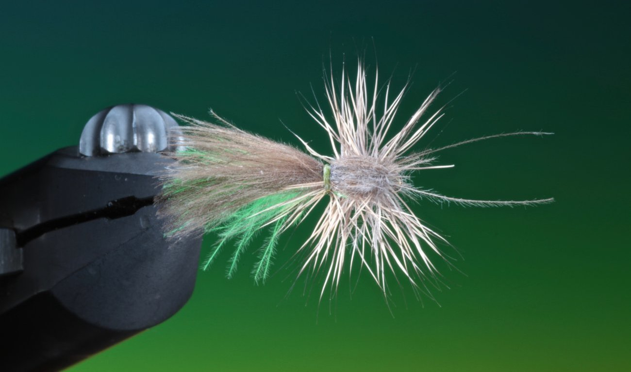 fly tying Midsummer Caddis dry fly