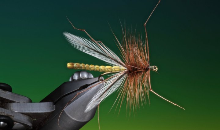 fly tying Deer hair daddy long legs