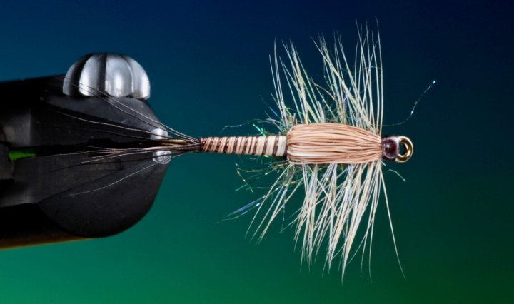 fly tying moose mane nymph. video tutorial