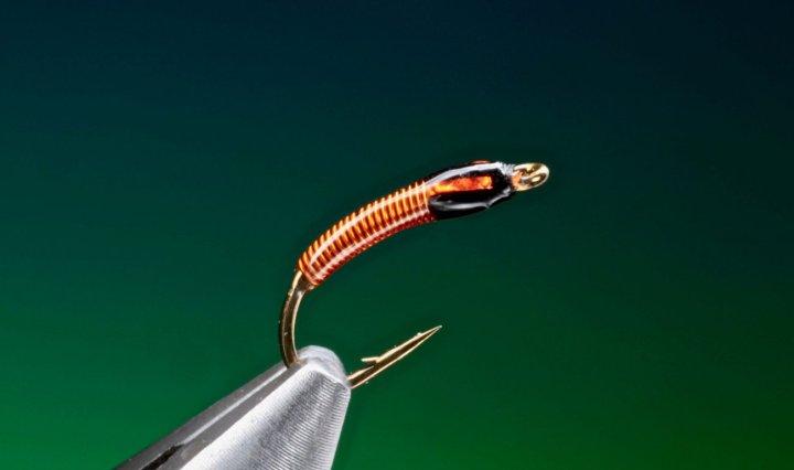 Ultra midge pupa fly tied by Barry Ord Clarke