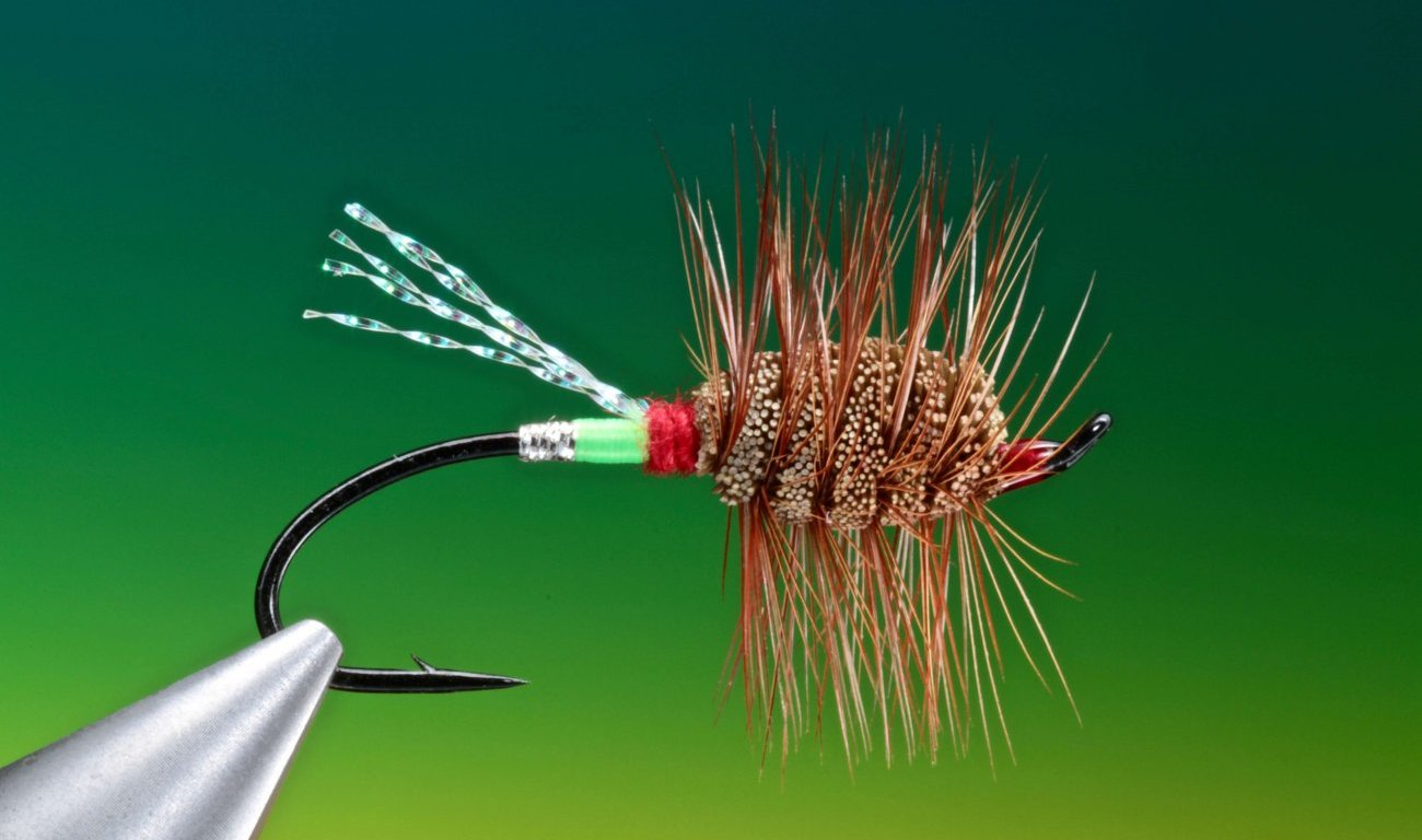 Green machine salmon fly tied by Barry Ord Clarke