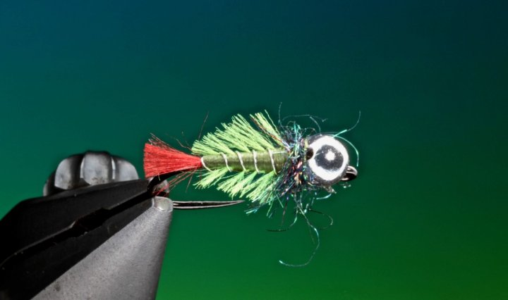Bottom crawler jig nymph tied by Barry Ord Clarke