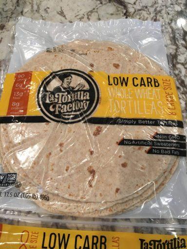 La Tortilla Factory low carb tortillas