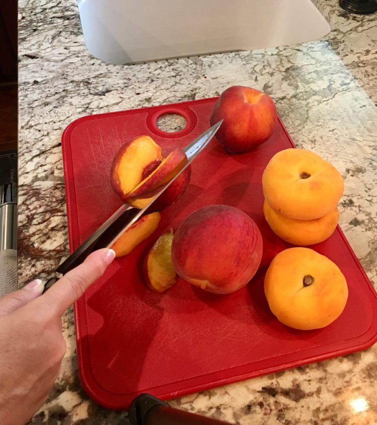 sliced fresh peach