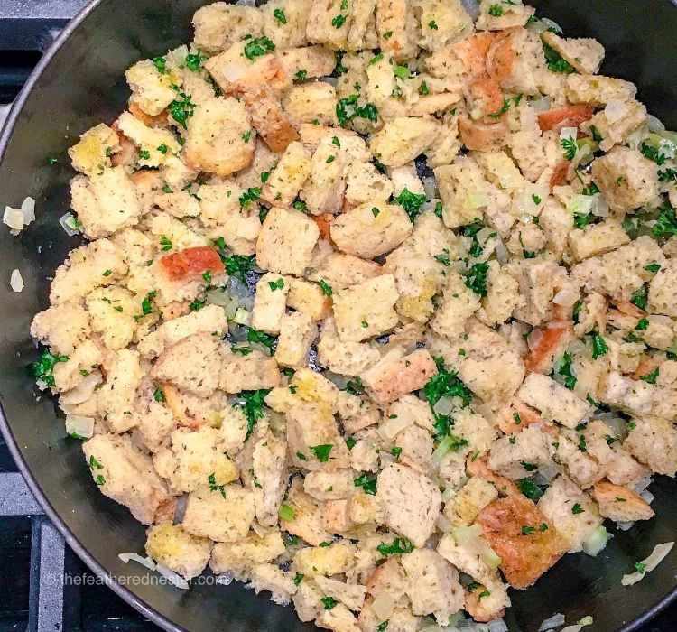 Sourdough Stuffing recipe thanksgiving side dish