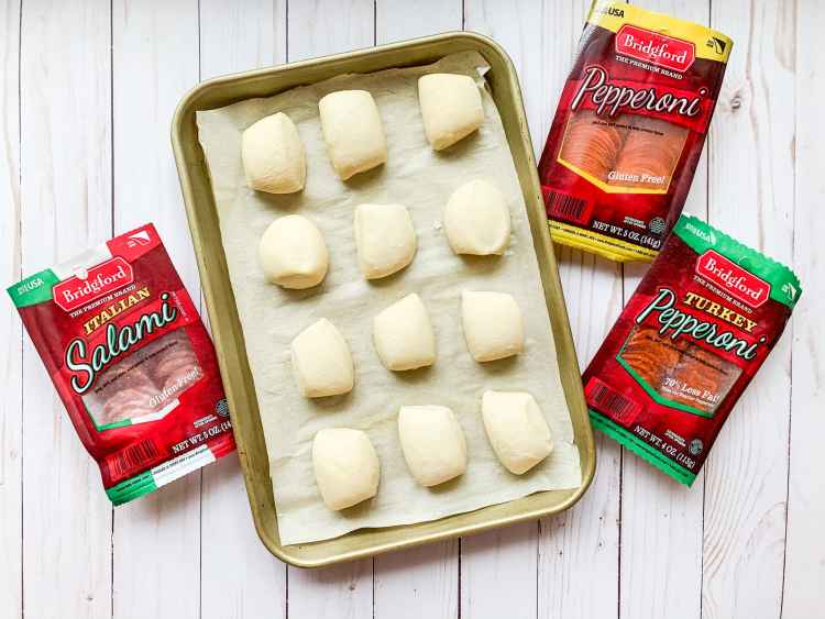 Sheet of frozen dough for Italian Sliders recipe