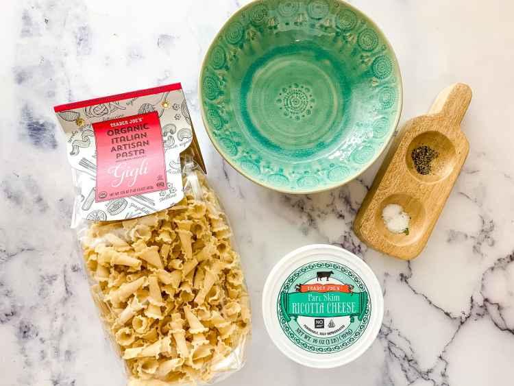 Pasta and Ricotta Cheese