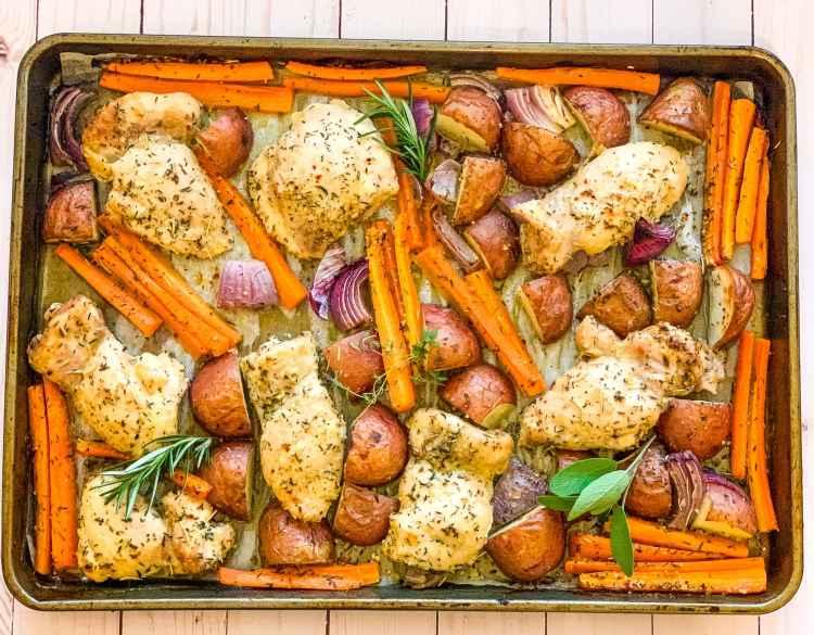 sheet pan chicken thighs