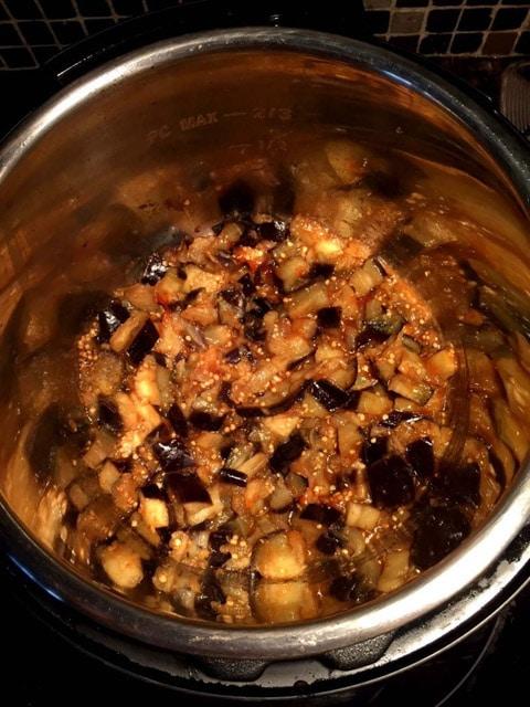 Instant Pot Spicy Garlic Eggplant