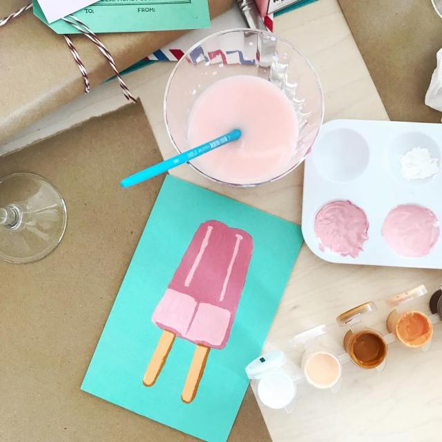Mimosa brunch and crafting in a gorgeous penthouse overlooking DTLA?hellip