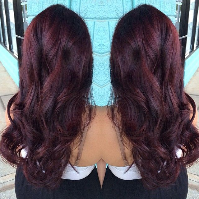 Hair Inspiration: Aubergine and Red