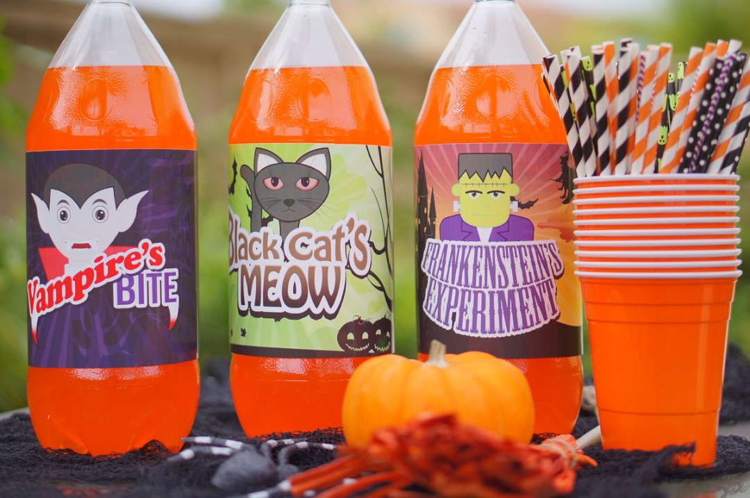Free Halloween Bottle Printables - TheFebruaryFox.com