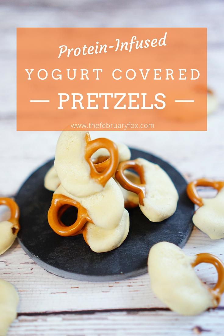 Protein-Infused Yogurt Covered Pretzels - TheFebruaryFox.com