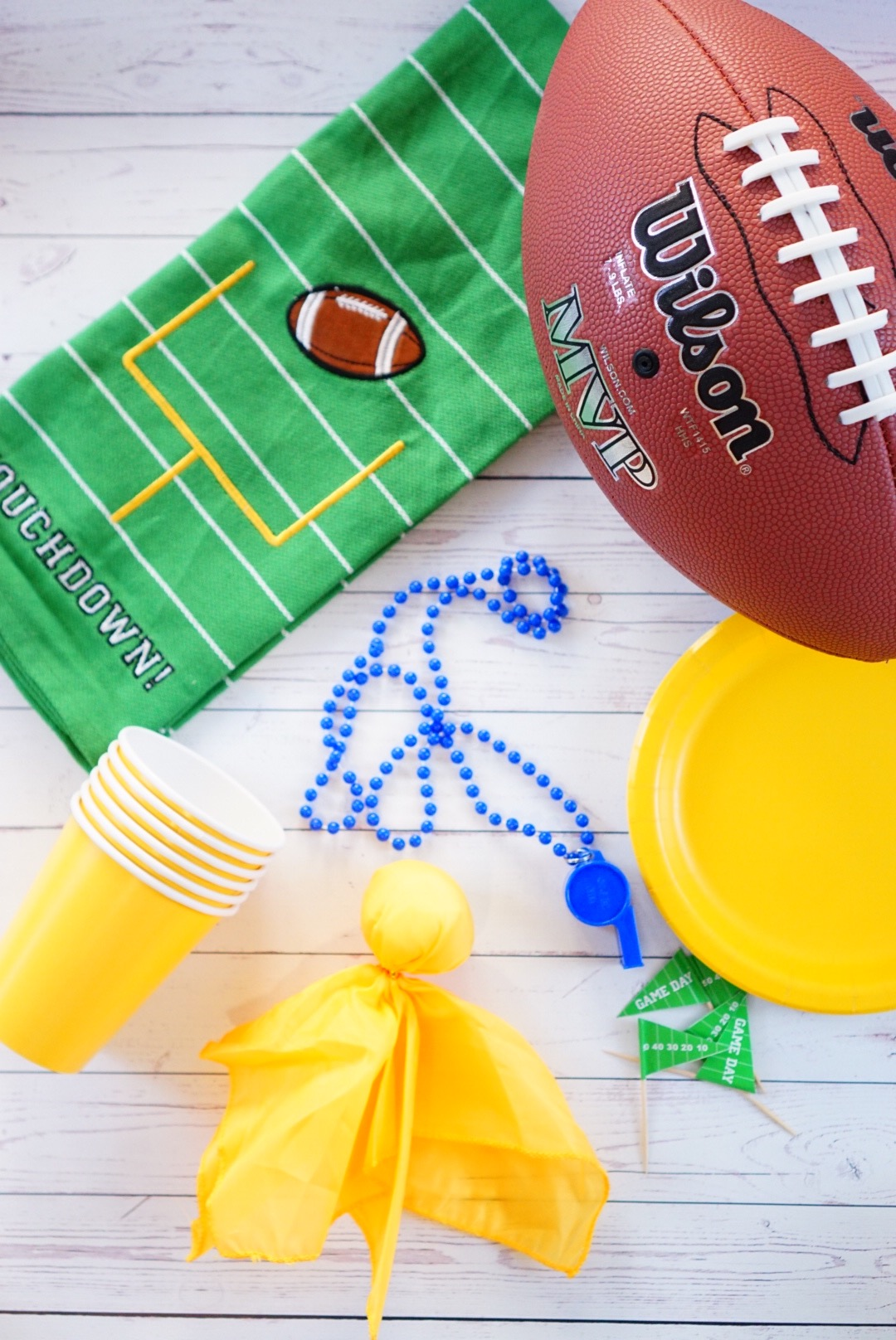 Football Party Decor - TheFebruaryFox.com