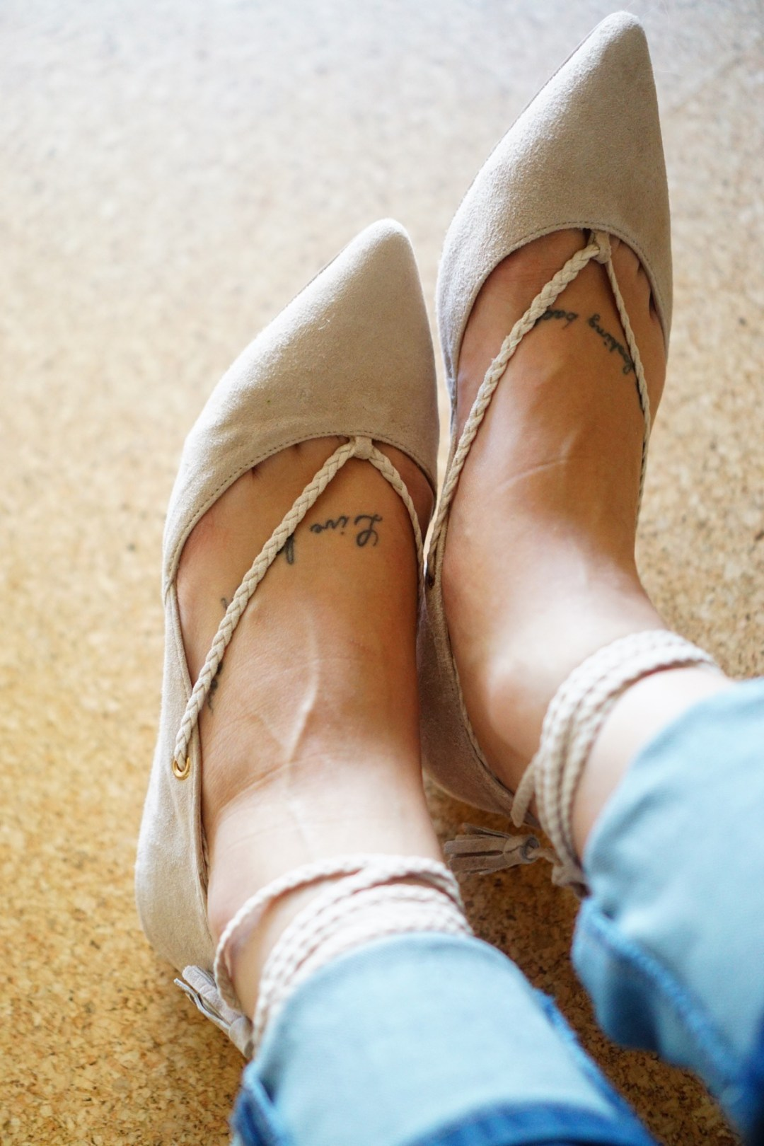 Stitch Fix Steven Gennna Suede Lace Up Flat in Blush - TheFebruaryFox.com