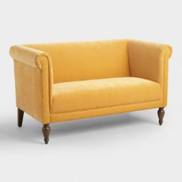 French Yellow Marian Loveseat