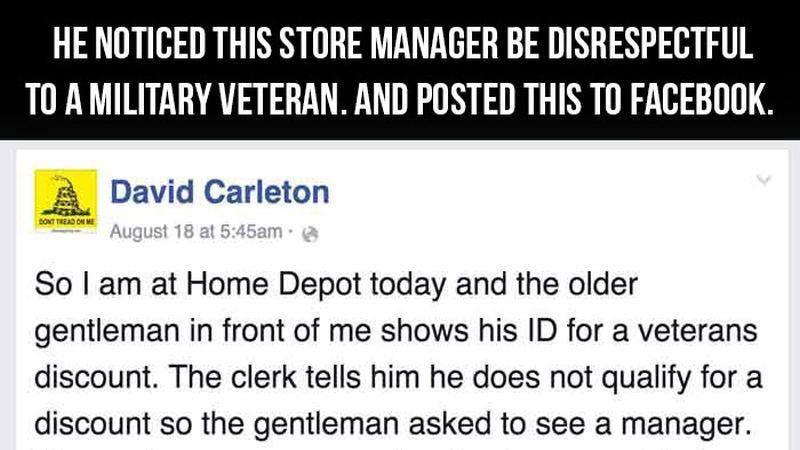 Home Depot Veteran Discount