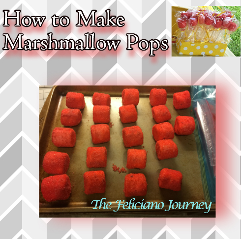 marshmallow pops drying