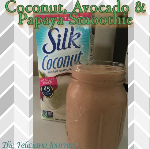 coconut avocado papaya smoothie